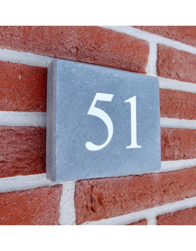 Huisnummer blauwsteen 12 x 10