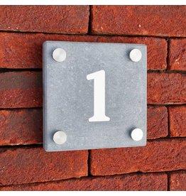 Blauwsteen huisnummer 12x12