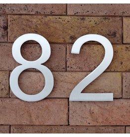 Huisnummer in RVS Elegance 120mm