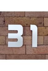 Huisnummer in RVS Designer 120mm