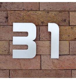 Huisnummer in RVS Designer120mm