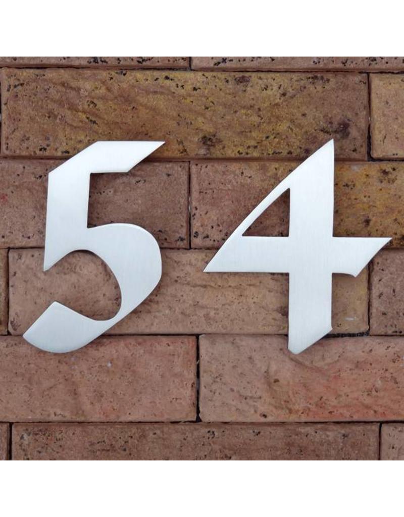 Huisnummer in RVS Gothic 120mm
