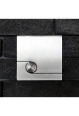 Deurbel op RVS plaat 6mm - Vierkant 85mm