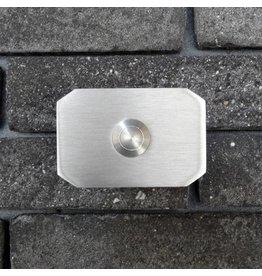 Deurbel op RVS plaat 6mm - achthoek