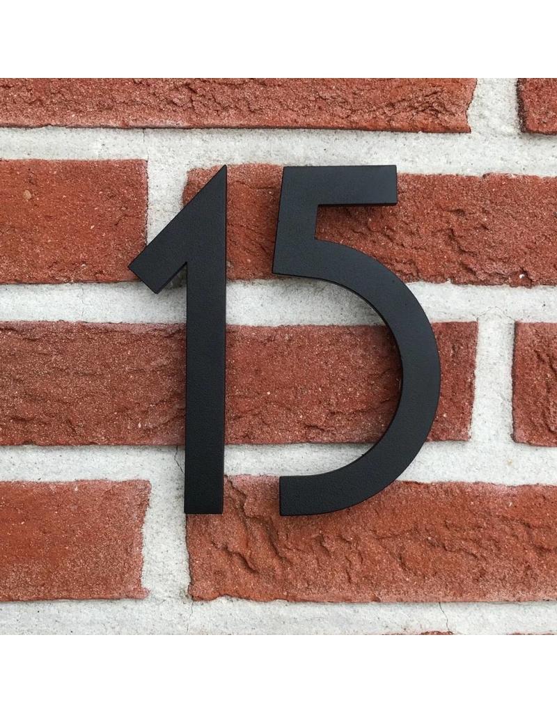 Huisnummers Zwart