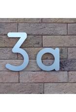 Huisnummer in RVS 160mm