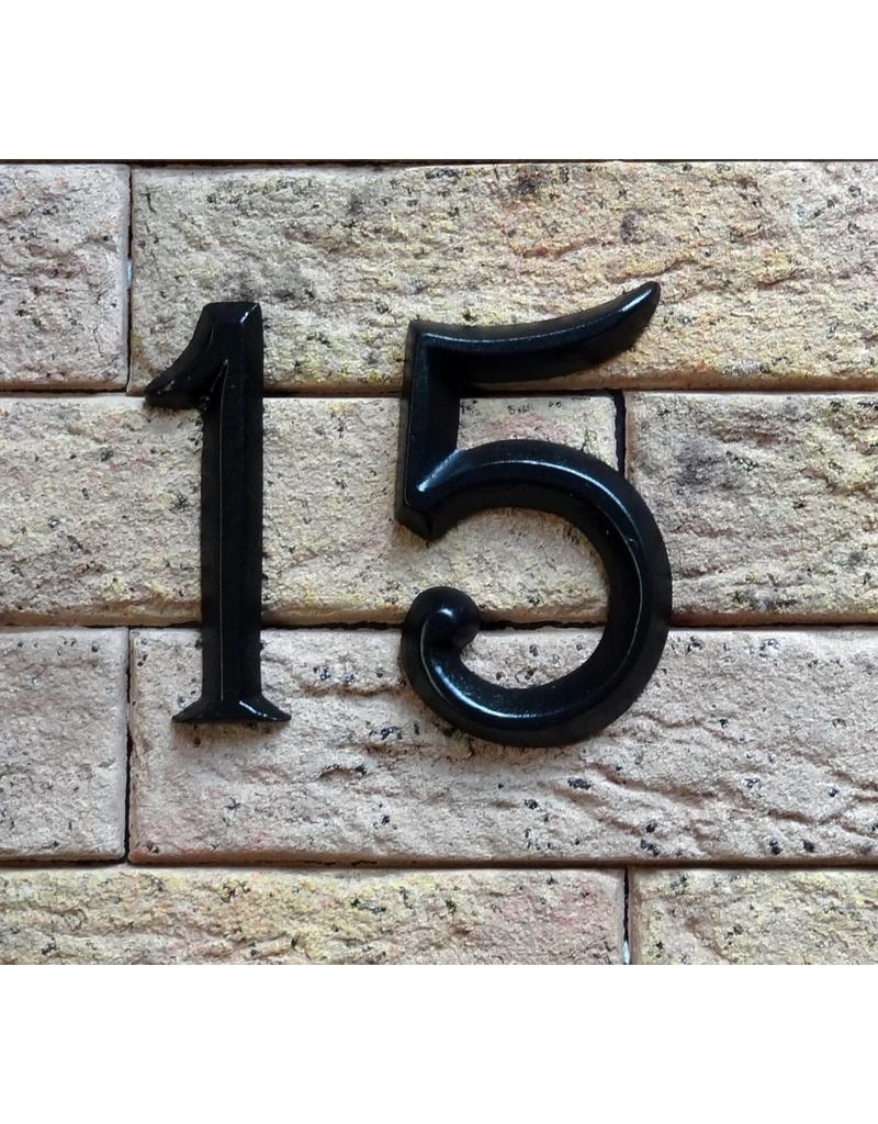 Huisnummer zwart