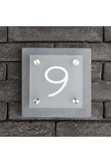 Plexi op blauwsteen huisnummer