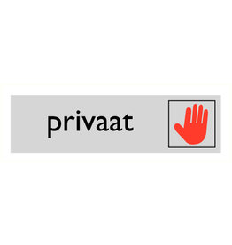 "Pictogram ""privaat"""