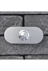 Deurbel op RVS plaat 6mm - rechthoek rond 80 x 35mm