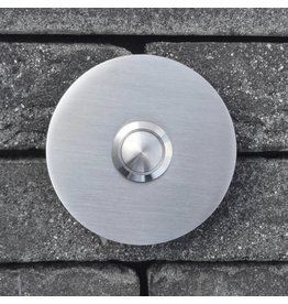 Deurbel op RVS plaat 6mm - Rond 70mm