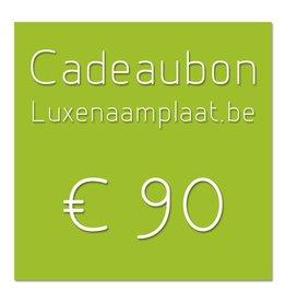 Cadeaubon €90
