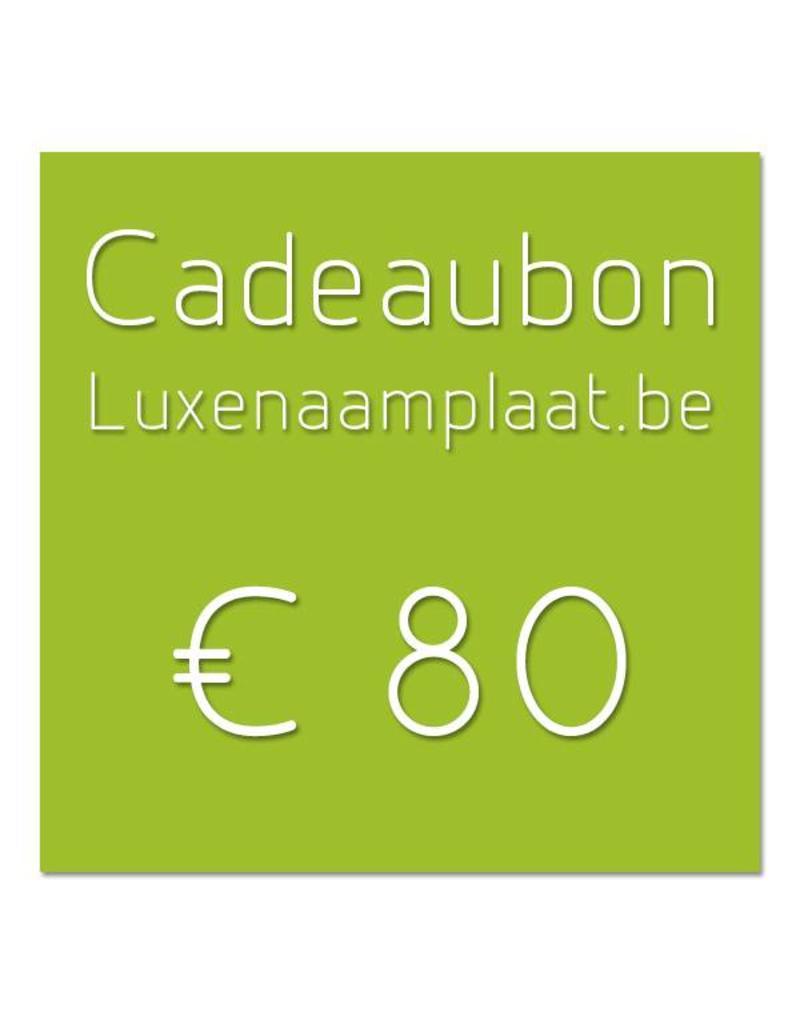 Cadeaubon €80