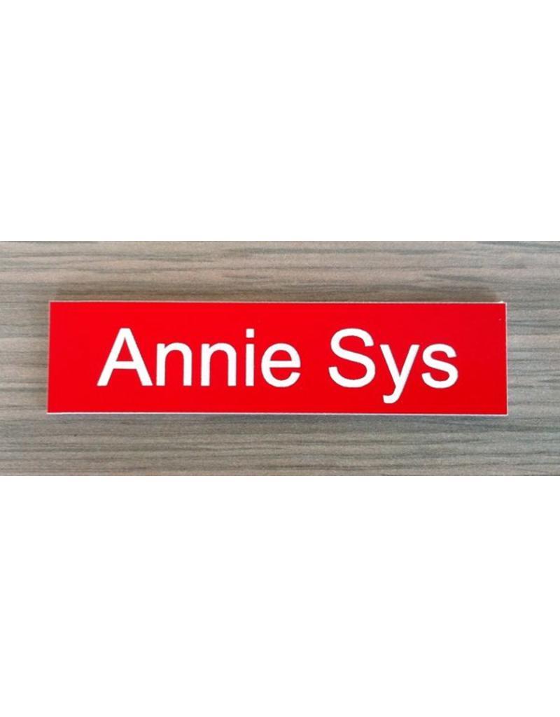 Kunststof naamplaat 8,5 x 3