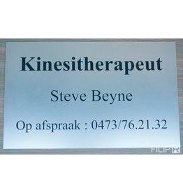 Kunststof naamplaat 40x30