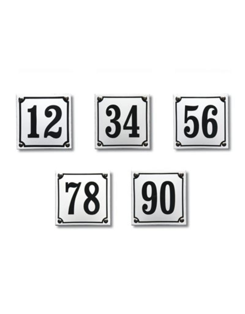 Standaard huisnummer 10x10