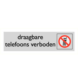 "Pictogram ""draagbare telefoons verboden"""