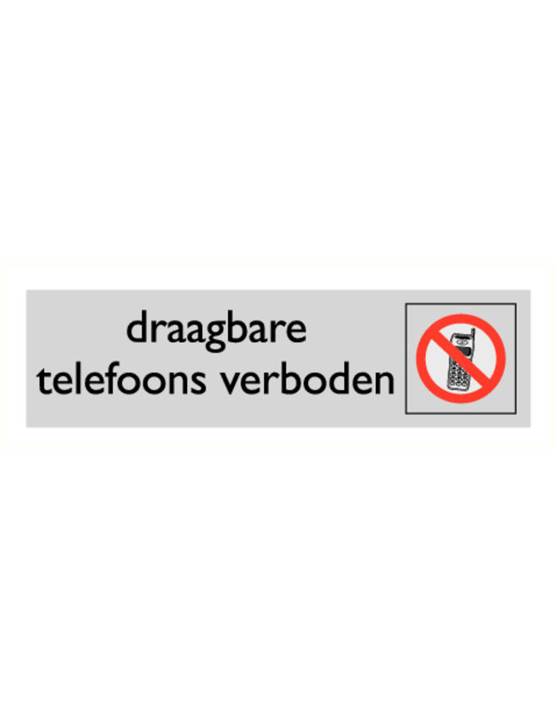 "Pictogram ""draagbare telefoons verboden"""