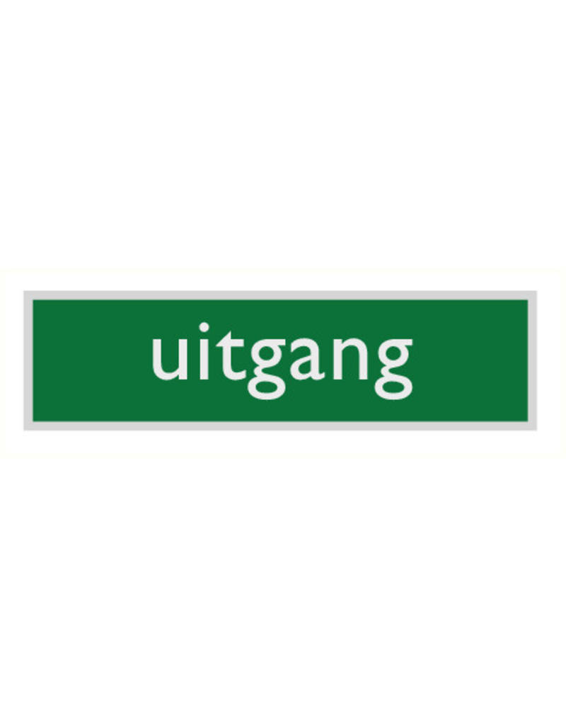 """Pictogram """"uitgang"""""""