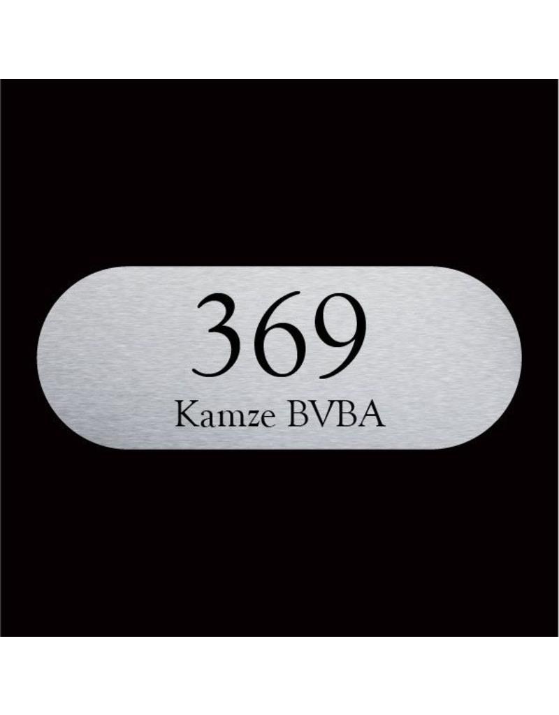 RVS naamplaat 160x60