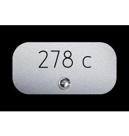 Deurbel RVS 316 AFM:160 x 80 HUISNUMMER