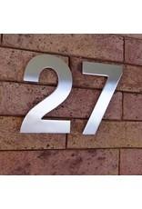 Huisnummer in RVS 120mm