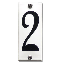 Emaille huisnummer 4x10