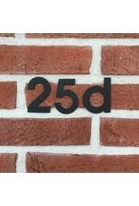 Huisnummer RVS-zwart om te kleven 80mm.