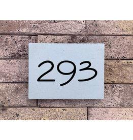 Naambord in beton (11x15cm)