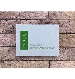 Naambord in beton (10x15cm) - eigen ontwerp