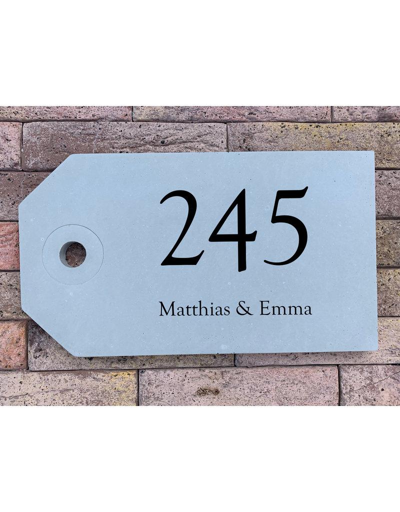 Naambord in beton tag links (20x35mm) Naambord in beton tag (20x35mm)