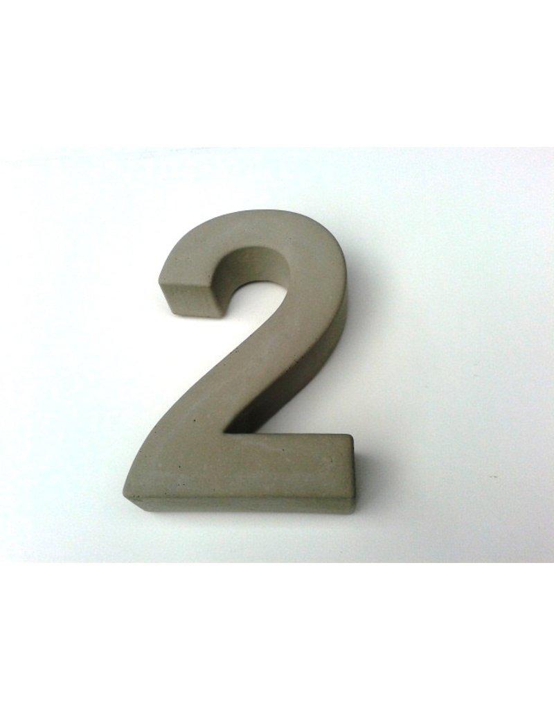 Huisnummer 2   beton 20cm