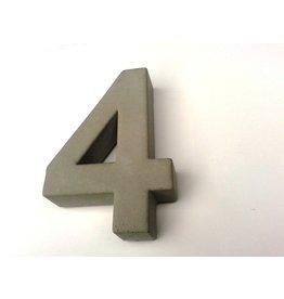 Huisnummer 4  beton 20cm