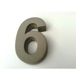 Huisnummer 6  beton 20cm