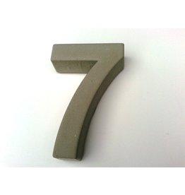 Huisnummer 7  beton 20cm