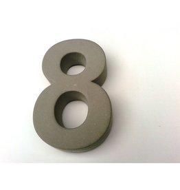 Huisnummer 8  beton 20cm