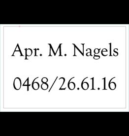 Naamplaat Apotheek Nagels