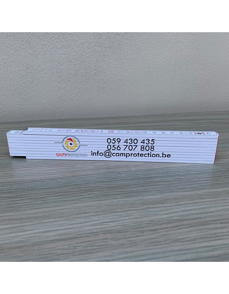 Stabila Pro Bedrukte vouwmeters 2 zijden full color.