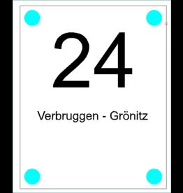 Naamplaat Verbruggen - Grönitz