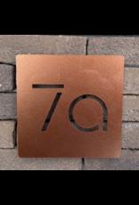 Modern huisnummer bord vierkant laser gesneden 15x15 cm