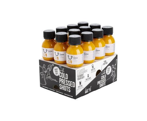 DrDetoxBox Boîte de Shots de Curcuma - 12 bouteilles