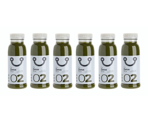 DrDetoxBox Komkommer Spinazie Sap Nº2 - 6-Pack