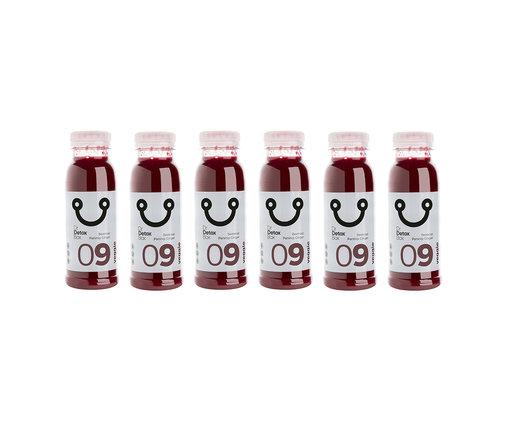 DrDetoxBox Beetroot Parsnip Ginger Juice - Veggie Nº9 - 6-Pack