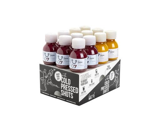 DrDetoxBox Turmeric & Pomegranate Juice Shots - 12-Pack