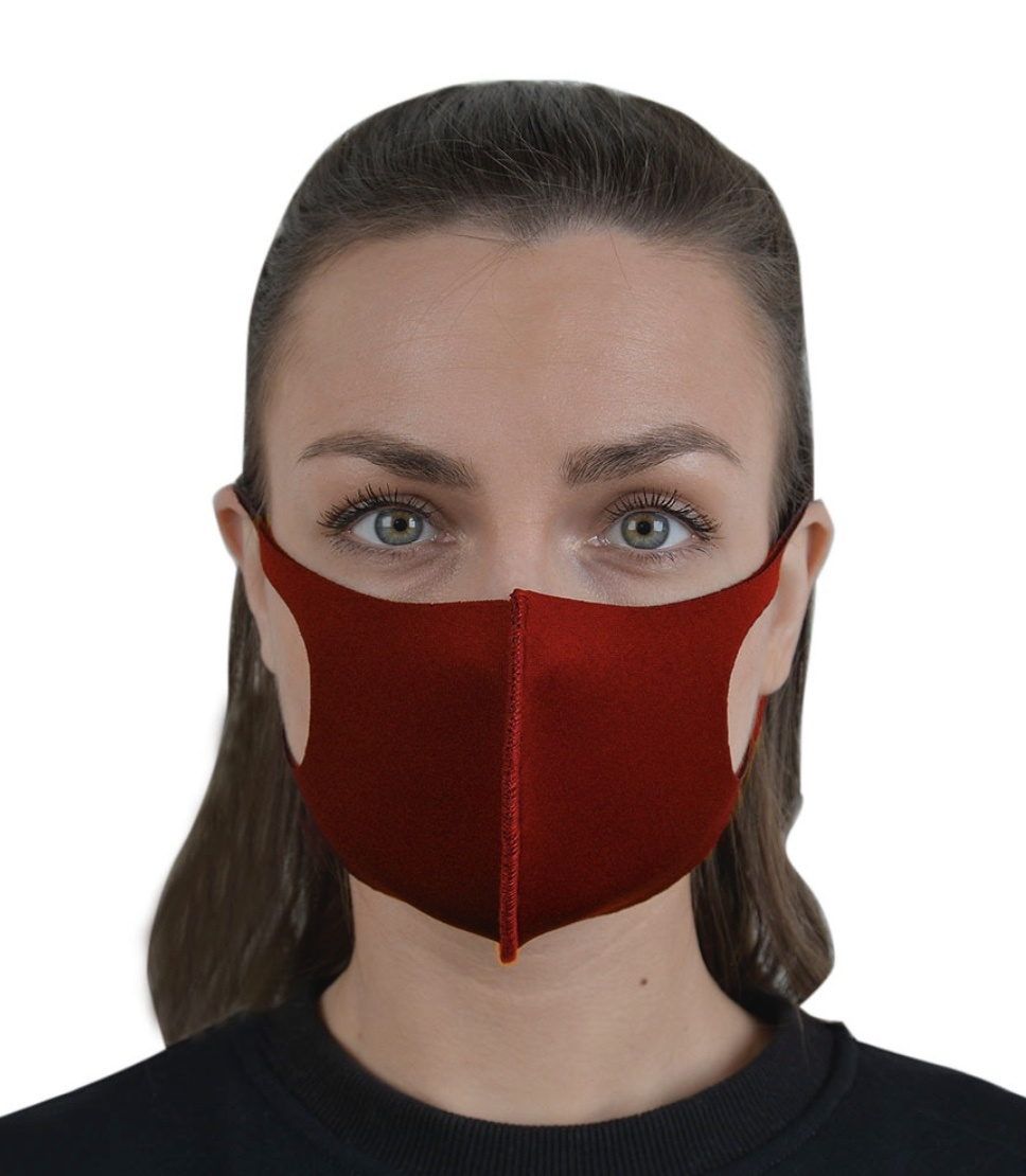 Community protective masks made of 95% polyester and 5% neoprene