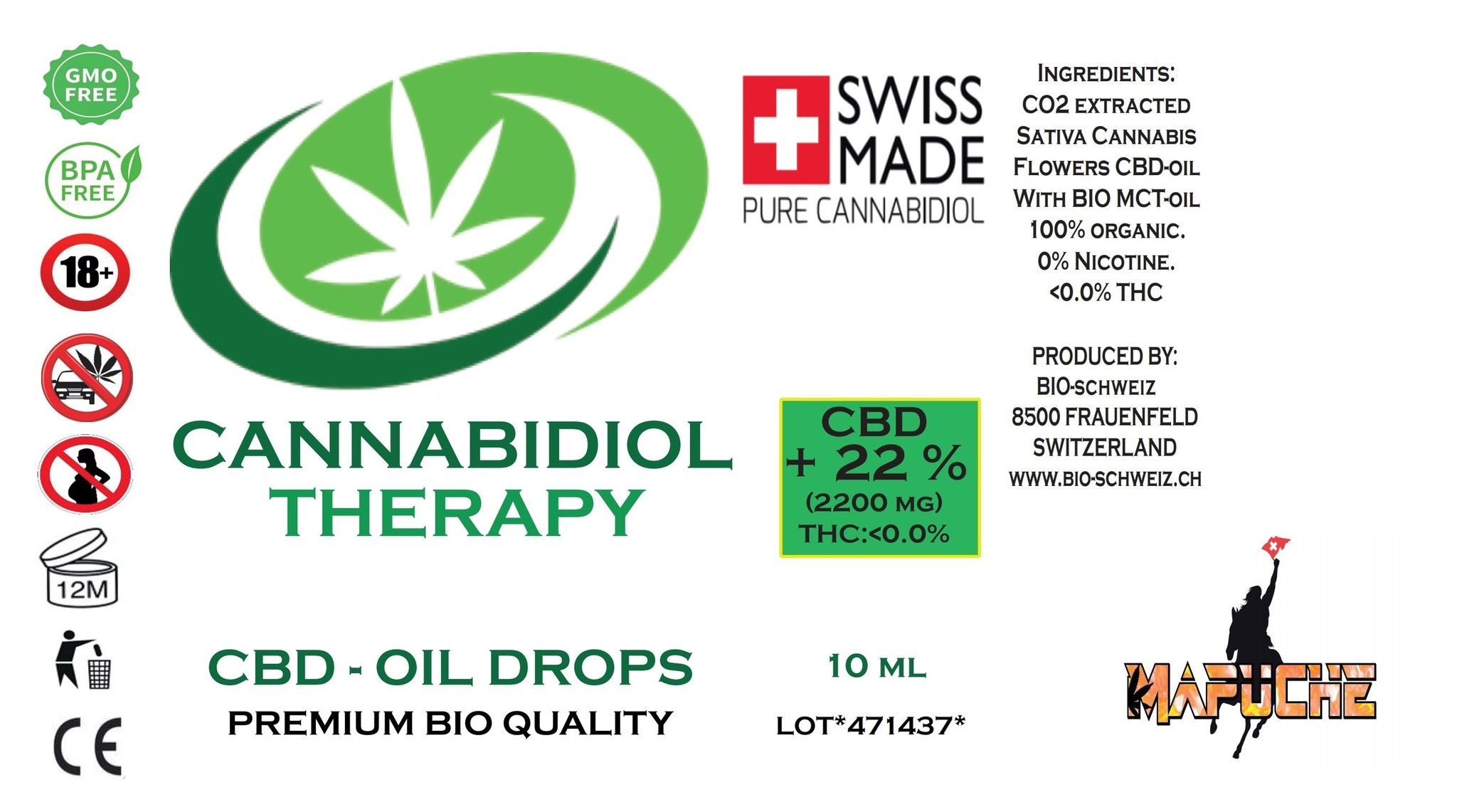 BIO OIL 22% CBD (10ml) mit CBD (CO2-SFE Extraction)