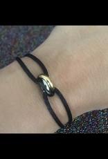 3 rings black special bracelet