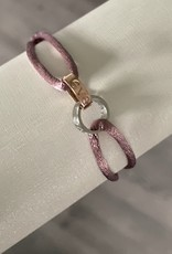 2 ring Rosé Silver