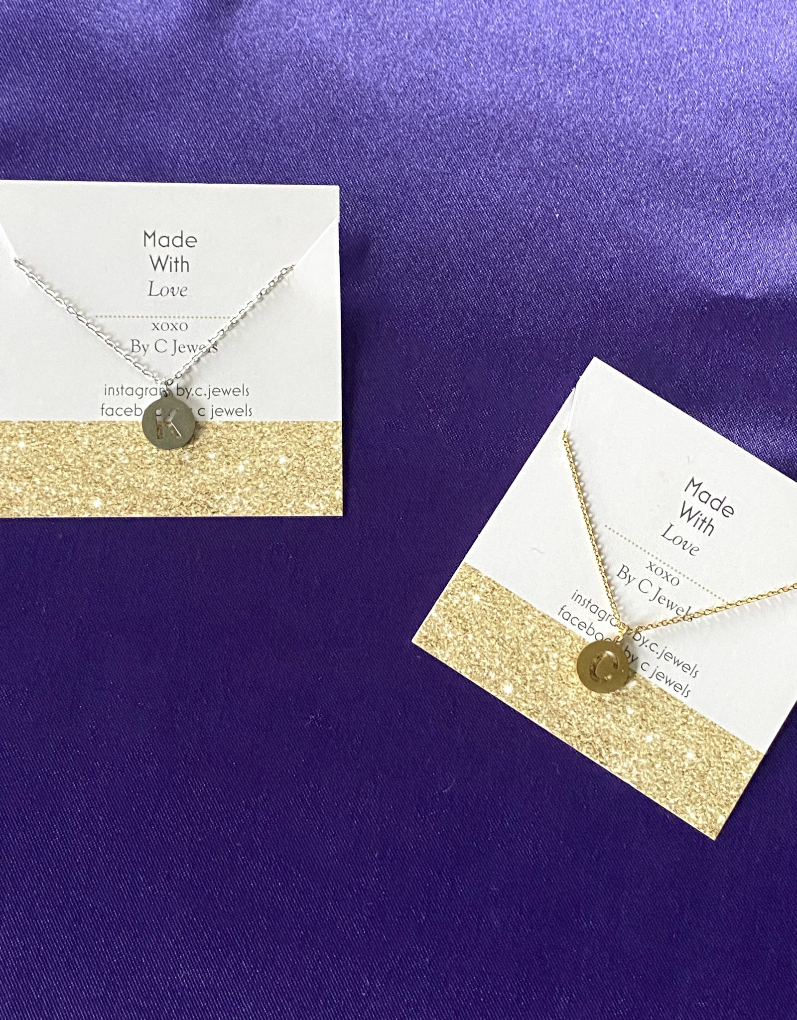 Coin Letter Necklace