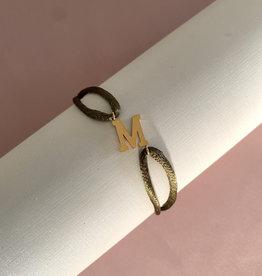 Letter Bracelet Goud